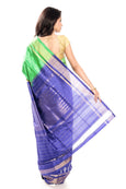 Ikkat saree in green & blue