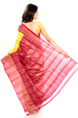 Yellow Pochampally Ikkat Silk Saree