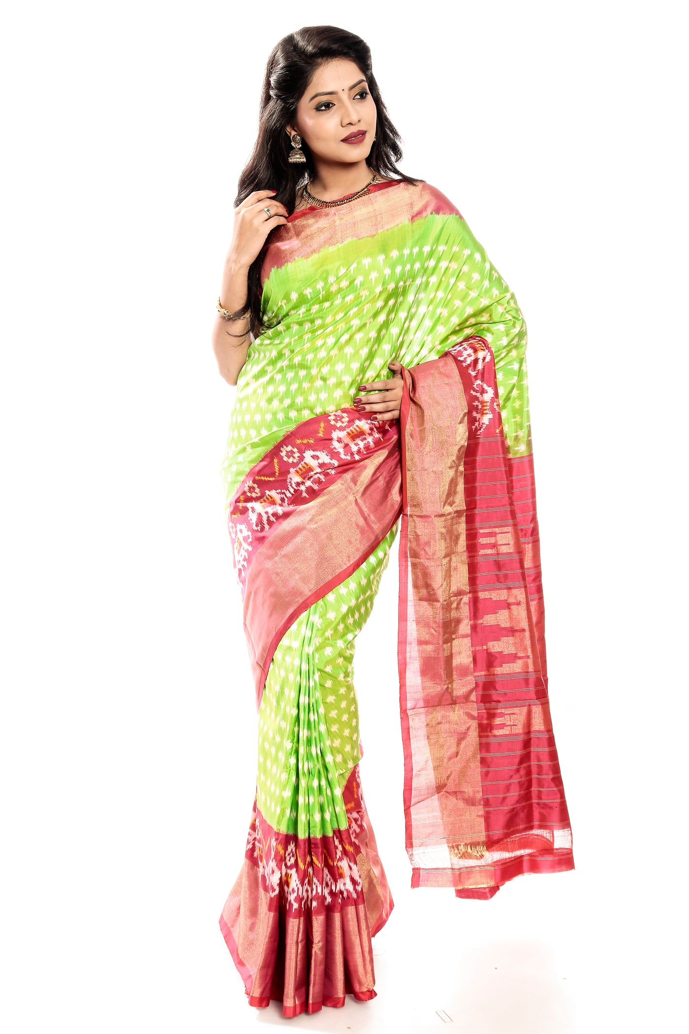Light green pochampally sarees online USA, Uk, Canada