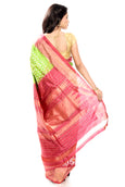 Light Gren Ikkat Silk Saree UK, USA, Canada