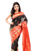 Black pochampally saree  in USA, UK, Canada