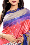 Pochampally Saree in Pink & Blue
