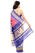 ikkat silk saree online in pink & blue