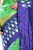 Green & Blue Pochampally Ikkat Saree online