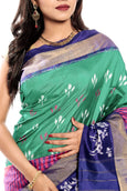 Ikkat silk saree in  online