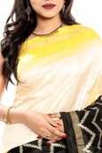 Pochampally silk saree online in white