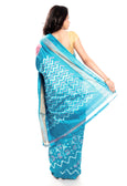 Baby Pink & Sky Blue silk saree