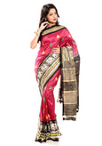 Drak pink pochanpally silk sarees