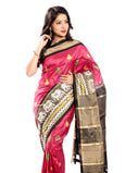 pochampally sarees in dark pink