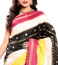 pochampally saree in cream & yellow