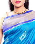Blue Pochampally Saree