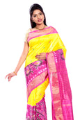 Pochampally  ikkat Silk Sarees  in yellow