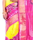 Yellow Pochampally Saree Online Canada