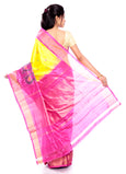 Ikkat saree online usa in yellow