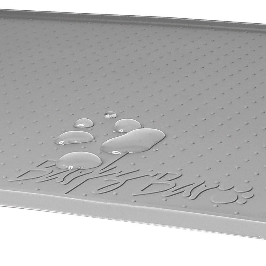Original Silicone Pet Feeding Mat For Dogs & Pets – (Large, Gray)