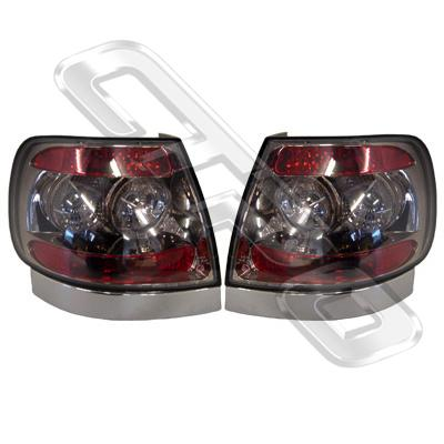 0018098-93PG-REAR LAMP - SET - L&R - BLACK CHROMED - AUDI A4 1995-