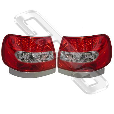 0018098-95PG-REAR LAMP - SET - L&R - RED/CLEAR - LED STYLE - AUDI A4 1995-