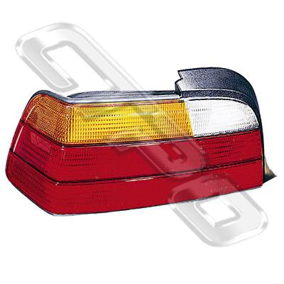 REAR LAMP - L/H - AMBER/CLEAR/RED - TO SUIT BMW 3'S E36 1991-95 2DR