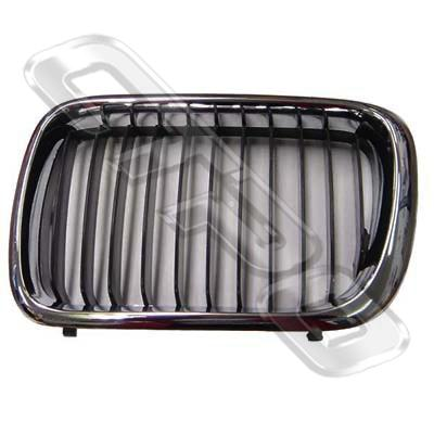 GRILLE - CHROME/BLK - R/H - TO SUIT BMW 3'S E36 1996-