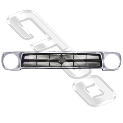 GRILLE - SILVER/DARK GREY - TO SUIT NISSAN B110 1200 UTE 1970-83