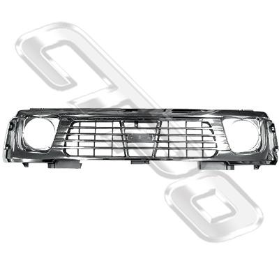 GRILLE - ALL CHROME - TO SUIT NISSAN PATROL Y60 1995-