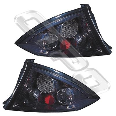 2569198-73PG-REAR LAMP - SET - L&R - LED STYLE - BLACK - FORD FALCON AU SEDAN  1998-02