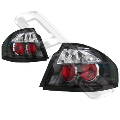 2569298-75PG-REAR LAMP - SET CLEAR STYLE - BLACK - FORD FALCON BA SEDAN  2003-