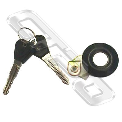 DOOR LOCK - WITH KEY - R/H - BLK TRIM - TO SUIT FORD LASER BG SDN-H/B 1990-94