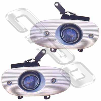 FOG LAMP - SET OF 2 W/WIRING - COMP - TO SUIT FORD LASER/LIATA BH 1995-