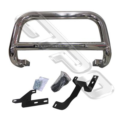 2588290-72-FRONT NUDGE BAR - WITH SINGLE LED BAR - POLISHED - FORD RANGER 2012-15