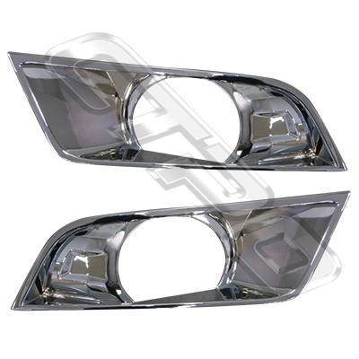 2588294-79PG-FOG LAMP COVER SET - L&R - CHROME - WITH HOLE - FORD RANGER 2015-  F/LIFT
