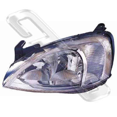 HEADLAMP - R/H - TO SUIT HOLDEN BARINA/OPEL CORSA 2000-
