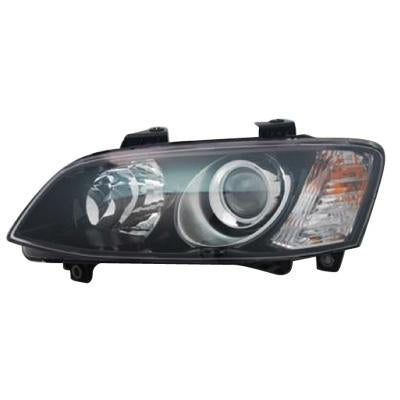 HEADLAMP - L/H - BLACK - PROJECTOR - TO SUIT HOLDEN COMMODORE VE SERIES 2 2011-  SSV/ HSV