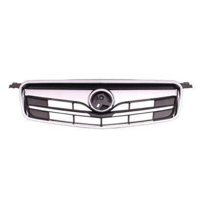 GRILLE - MAT/BLACK - W/CHROME MOULDING & CHROME FRAME - TO SUIT HOLDEN CRUZE 2009-