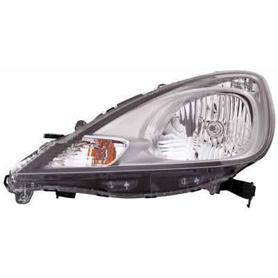 HEADLAMP - L/H - ELECTRIC/MANUAL - CHROME - TO SUIT HONDA FIT / JAZZ 2010- F/LIFT