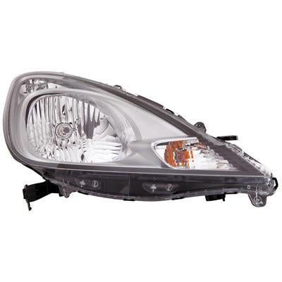 HEADLAMP - R/H - ELECTRIC/MANUAL - CHROME - TO SUIT HONDA FIT / JAZZ 2010- F/LIFT