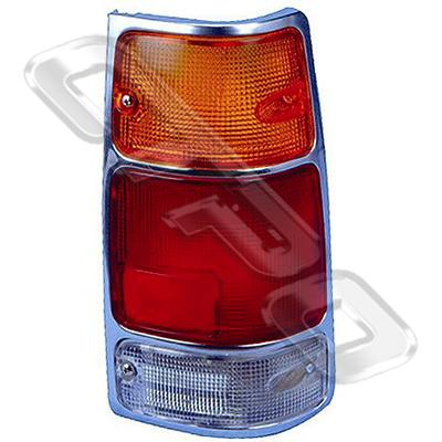 REAR LAMP - L/H - CHROME TRIM - TO SUIT HOLDEN RODEO 1993-