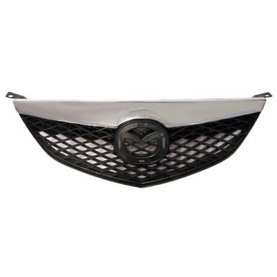 GRILLE - MAT BLACK WITH CHROME MLDG - TO SUIT MAZDA 6 2003-