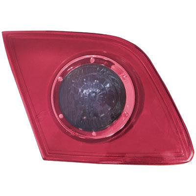 REAR LAMP - L/H - INNER - PINKY RED WITH BLUE CIRCLE - TO SUIT MAZDA 3 2004-    5DR