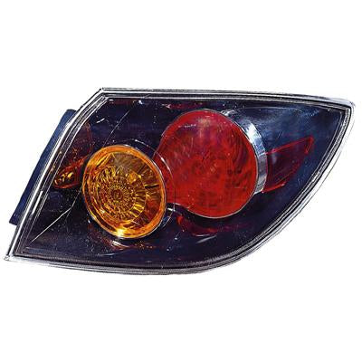 REAR LAMP - R/H - OUTER BLACK - TO SUIT MAZDA 3 2004-    5DR