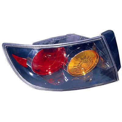 REAR LAMP - L/H - OUTER BLACK TYPE - TO SUIT MAZDA 3 2004-    SEDAN