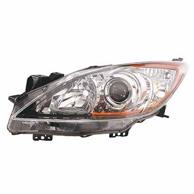 HEADLAMP - L/H - ELECTRIC/MANUAL - BLACK - TO SUIT MAZDA 3 2009-  4DR/5DR