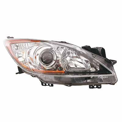 HEADLAMP - R/H - ELECTRIC/MANUAL - BLACK - TO SUIT MAZDA 3 2009-  4DR/5DR