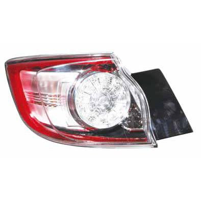REAR LAMP - L/H - OUTER - LED TYPE - TO SUIT MAZDA 3 2009-  H/BACK