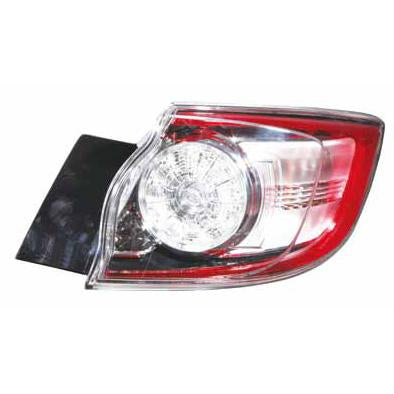 REAR LAMP - R/H - OUTER - LED TYPE - TO SUIT MAZDA 3 2009-  H/BACK