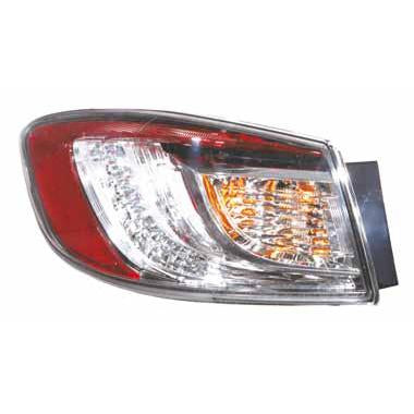 REAR LAMP - L/H - OUTER - LED TYPE - TO SUIT MAZDA 3 2009-  4DR