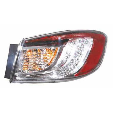 REAR LAMP - R/H - OUTER - LED TYPE - TO SUIT MAZDA 3 2009-  4DR