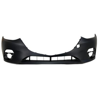 FRONT BUMPER - PRIMED BLACK - TO SUIT MAZDA 3 2014-