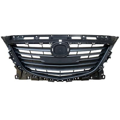GRILLE - MAT/DARK GREY - TO SUIT MAZDA 3 2014-