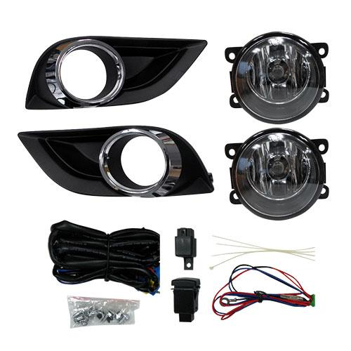 FOG LAMP SET - L&R - WITH WIRING & BEZEL - TO SUIT MAZDA BT50 P/UP 2012-